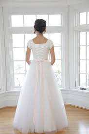 Discount Simple Tulle A Line Long Modest Wedding Dress With Cap Sleeves Sweetheart Ruched Beaded Waist Modest Country Bridal Gowns With Sash Wedding