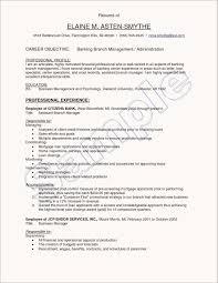 Resume Sample For Teller Job In Bank Valid Objective Resume For Bank