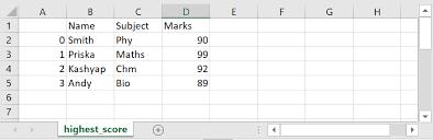 write python pandas dataframe to csv