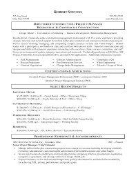 Gallery Of Construction Resume Template