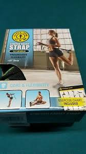 Golds Gym Stretch Assist Strap 12 Level Home Exercise