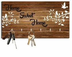 home sweet home wooden key holder wall