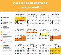 Calendario 2007 Mexico Calendario Escolar 2007 2008 Para Preescolar Primaria