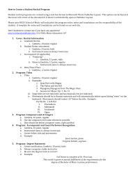 Program Notes Template Student Recital Template Instructions