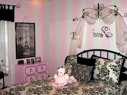 Paris Bedroom Decor Ideas With Pink And White Wall Wallpaper Themed Bedrooms  For Teenage Girls Inspired
