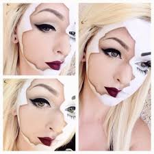 broken doll makeup lauraduquette how cool is this i bet you could recreate it