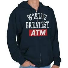 Details About Worlds Greatest Atm Dad Fathers Day Gift Zipper Hoodie