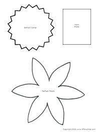Flower Stencils Printable New Paper Flower Template