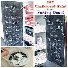 diy chalkboard painted pantry doors by the happy housie for the thrifty couple