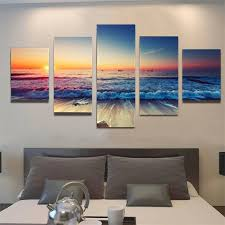cool canvas paintings for wall art sets hot panel modern printed sea wave landscape and