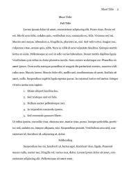 Psychology Research Proposal Example Apa