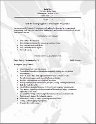 computer programmer resume samples programming resume occupational examples samples free edit with word