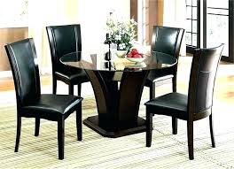 glass top dining table set 4 chairs round dining table set for 4 glass top dining