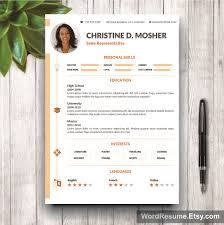 resume template pages cv template cover letter and portfolio mockup template resume page 2