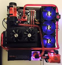 first watercooling build on a wall mounted p3 case