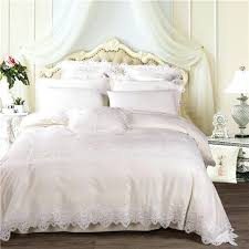 egyptian cotton king sheet set white cream luxury lace wedding royal princess bedding queen size bed egyptian cotton king sheet set thread count