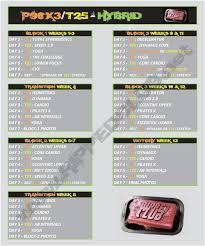 p90x3 t25 hybrid schedule