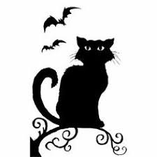 halloween cat clipart black and white. Exellent Black Spooky Hollow Halloween Window Decoration Witch Or Cat Silhouette Witch  Amazoncouk Kitchen U0026 Home And Clipart Black White L