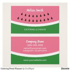 Visiting Card Design For Catering Services Catering Event Planner Business Card Zazzle Com Event
