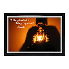 Buy God Gautama Buddha Hd Photo Frame With Quote A Disciplined Mind