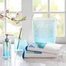 aqua blue glass bathroom accessories thedancingpacom