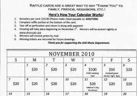 Calendar Raffle Template Calendar Raffle Fundraiser Template Lottery Calendar Fundraiser