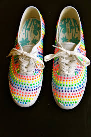 Cool Designs To Paint On Shoes Puffy Paint Shoes Love These With Different Set Of Colors