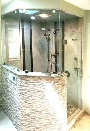 half wall shower enclosure inspiration board shower bath with half pony wall glass showers