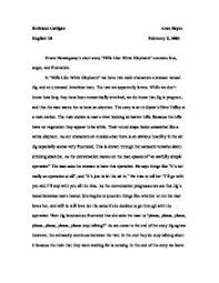 theme and narrative in ernest hemingway s short story hills like  page 1 zoom in