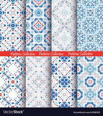 Boho Patterns Impressive Blue Flower Patterns Boho Backgrounds Royalty Free Vector