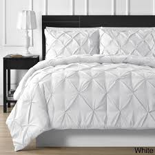 white pleated comforter. Brilliant Pleated Shop Porch U0026 Den Avondale Lincoln 3piece Pinch Pleated Comforter  Free  Shipping Today Overstockcom 19211974 For White A