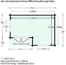 home office cabins. 4 X 3 Waltons Home Office Executive Log Cabin Dimensions Cabins