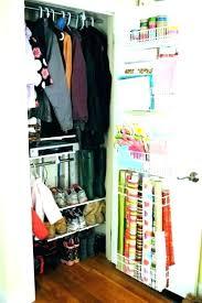 coat closet organizer foyer ideas organization wrapping paper storage deep close