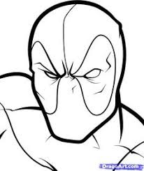 Small Picture Printable Deadpool Coloring Page DEADPOOL Pinterest Deadpool