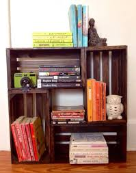 wooden wine crate bookcase