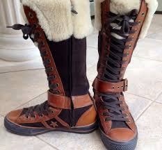 leather converse boots