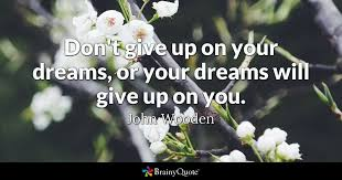 Don T Give Up On Your Dreams Quotes Best of Don't Give Up On Your Dreams Or Your Dreams Will Give Up On You