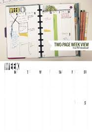 planner page template two page week 5 5 x 8 5 diy planner template printable planner