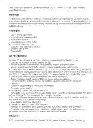 Rig Electrician Resume Rig Electrician Resume Template Best Design Tips MyPerfectResume 2
