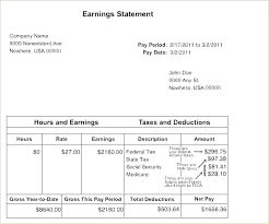 Statement Of Earnings Template Google Sheets Pay Stub Template Teachers Salary Statement