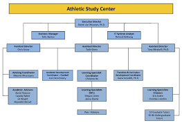 Organizational Chart Athletic Study Center