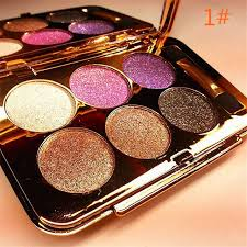 new arrival 1 set 6 color diamond shine eye shadow palette makeup kit 6 styles