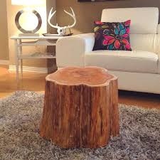 simple tree stump coffee table