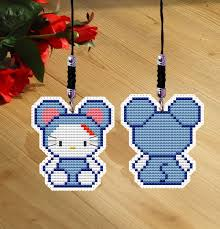 get ations dmc cross stitch sided embroidery phone chain pendant 390 inside a 9 square meter