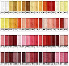 Finca Perle Cotton Color Chart Presencia Finca Color Chart Chart Cross Stitch Articles