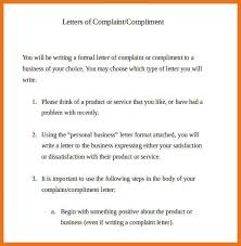 Formal Letters Of Complaint How To Write A Formal Complaint Letter Complaint Letter With