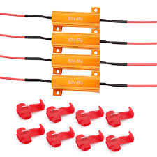 Fix License Plate Light Lotfancy 4pcs 50w 6ohm Load Resistors Fix Led Bulb Fast Hyper Flash Turn Signal Blink Error Code Led License Plate Lights