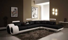 Living Room Decorating With Sectional Sofas Living Room Inspiration Modern Brown Italian Leather Sectional And