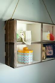 diy crate wall shelf an easy no build shelf that only requires craft materials