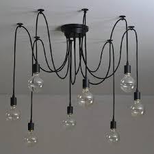 Us 570 68101214 Nordic Retro Edison Glühbirne Anhänger Kronleuchter Vintage Loft Antiken Verstellbare Diy E27 Spinne Pendente De Teto